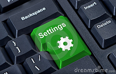 Button keypad settings with gear.