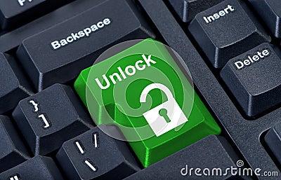 Button keypad unlock with padlock