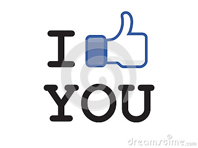 Button like facebook Editorial Stock Photo