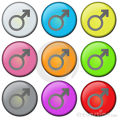 Free BUTTON - MALE Royalty Free Stock Images - 565529