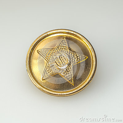 The button from military uniforms of Soviet army