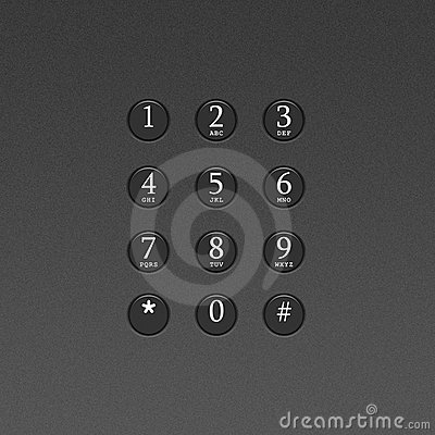 Button on the phone or telephone keypad