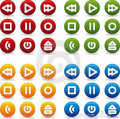 Free Button Play Icon Stock Photography - 4684282