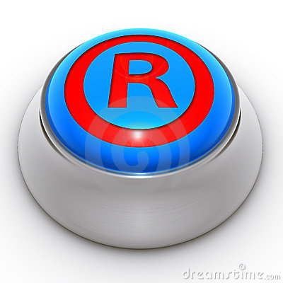 Button protected trademark