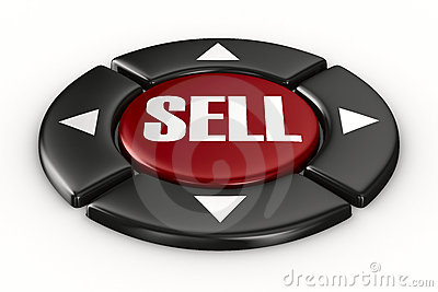 Button sell on white background