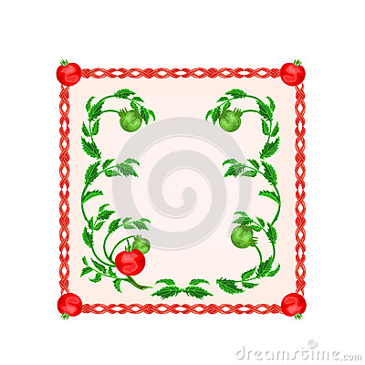 Button tomatoes with leaf motive vector illustration