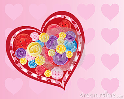Button valentine