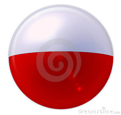 Buttonised flag of Poland