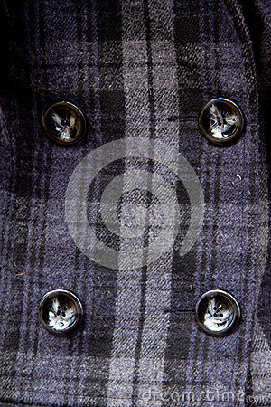 Buttons on a coat