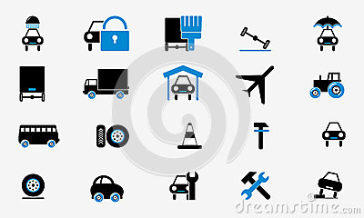 Buttons Collection cars icons internet web
