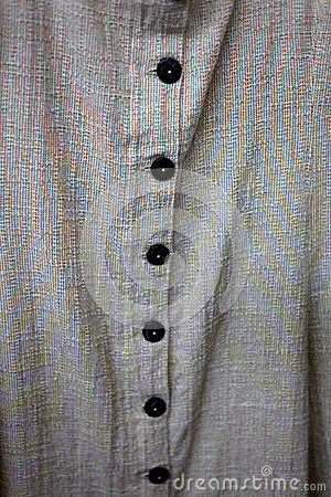 Buttons on cotton shirt