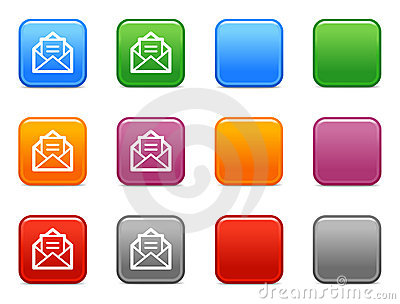 Buttons with e-mail icon 3