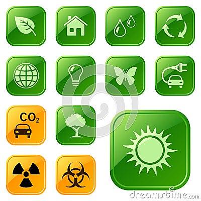Buttons ekologiska symboler