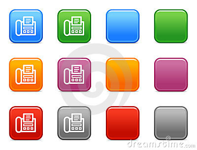 Buttons with fax icon