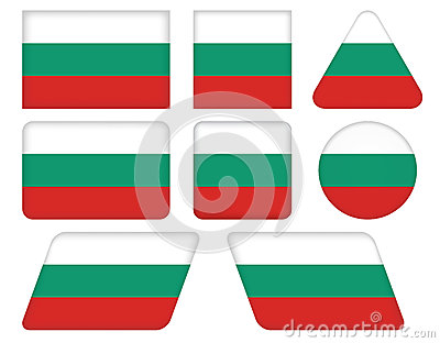 Buttons with flag of Bulgaria