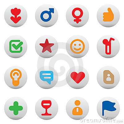 Free Buttons For Dating And Love Royalty Free Stock Image - 13462486