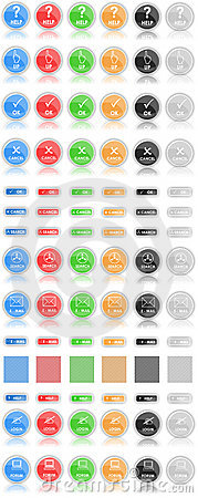 Buttons (icons) of Web 2.0
