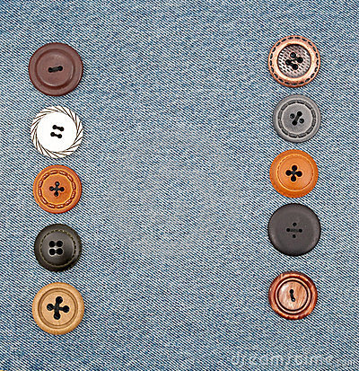 Buttons on jeans