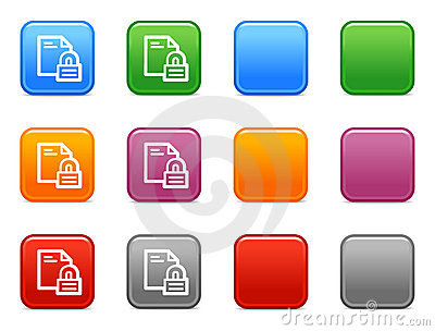 Buttons locked document icon
