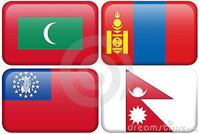 Buttons: Maldives, Mongolia, Myanmar, Nepal