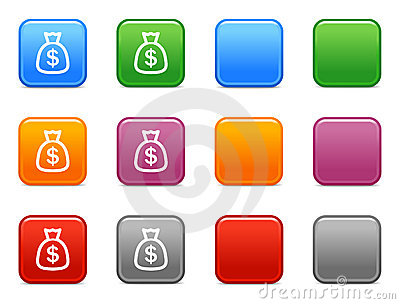 Buttons with money icon 1