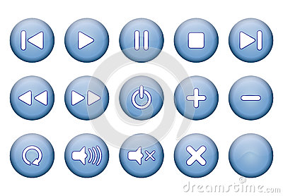 Buttons for music player