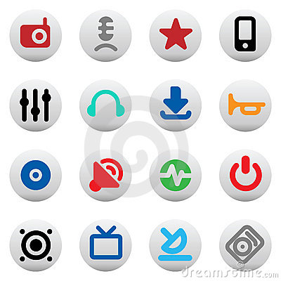 Buttons for music and sound