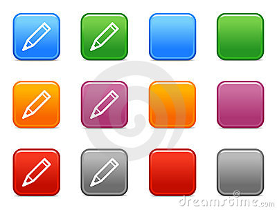 Buttons with pencil icon