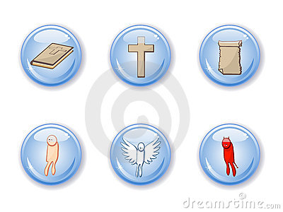 Buttons set  religion
