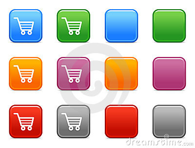 Buttons shopping cart icon