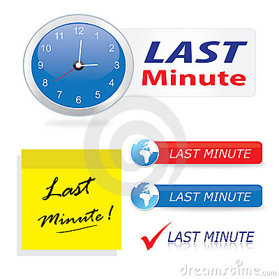 Buttons symboler den sista minuten