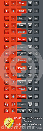 Buttons for websites and software