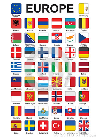 Free Buttons With Flags Of Europe Royalty Free Stock Photography - 26250897