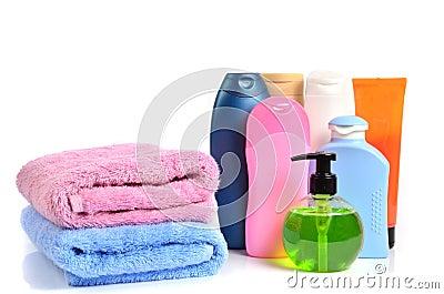 butylki cosmetics and bath towels