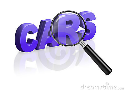 Buy car advertisement button second hand or new