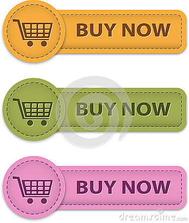 Buy Now buttons for online shopping made of leather. Vector ...: www.dreamstime.com/royalty-free-stock-images-buy-now-buttons...