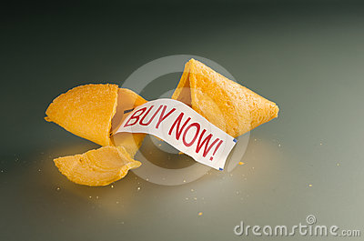 Buy now fortune cookie
