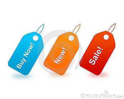 Buy now / New and sale tags