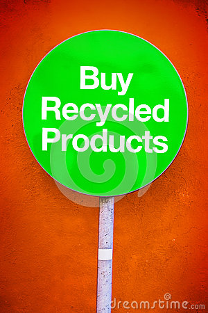 Buy Recycled Products Stock Photo - Image: 57495774: www.dreamstime.com/stock-photo-buy-recycled-products-message-green...