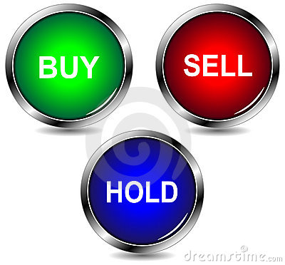 Buy sell hold icons
