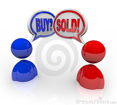 Buy and Sold Speech Bubbles
