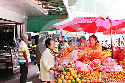 Buying Fruits Editorial Image