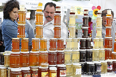 Buying honey products Editorial Image