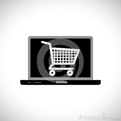 Free Buying Or Shopping Online Using Computer Royalty Free Stock Photo - 27859535