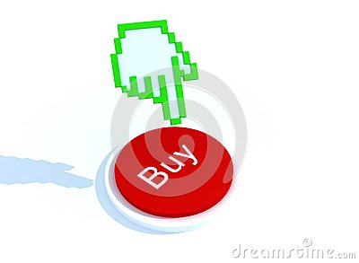 Buynow with hand cursor