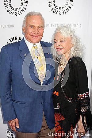 Buzz Aldrin, Debbie Reynolds, Lois Aldrin,  Buzz  Aldrin Editorial Photo