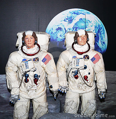 Buzz Aldrin and Neil Armstrong Editorial Photography
