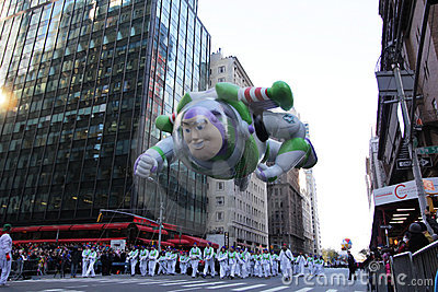Buzz lightyear in Macy s Parade Editorial Photo