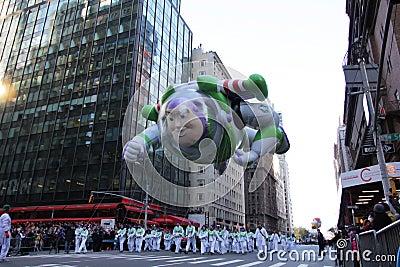 Buzz lightyear in Macy s Parade Editorial Photo