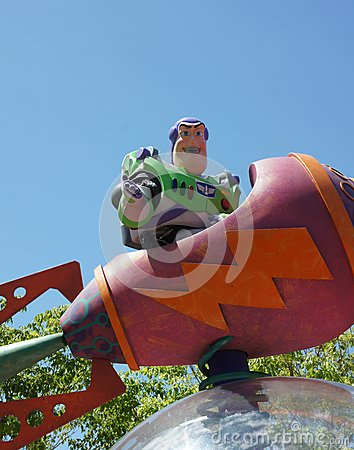 Buzz Lightyear in Parade Editorial Stock Image